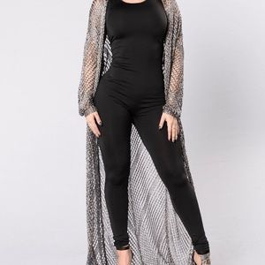 New Silver Cover Up size M/L